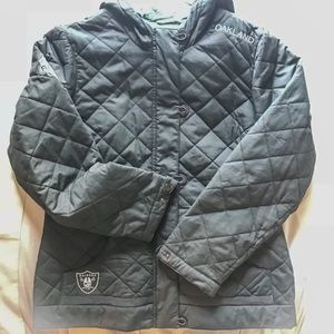 Oakland Raiders Quilted Coat